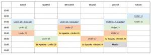 calendario settimanale (dal 25/5)